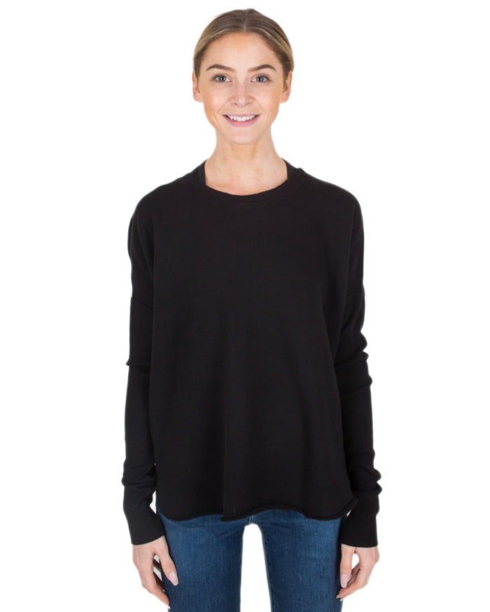 Tee Lab Clothing Blackout / L Relaxed Long Sleeve Sweatshirt