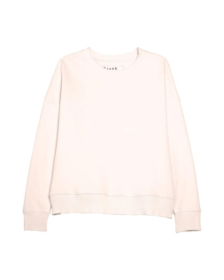 Tee Lab Clothing Ribbed Knit Sweatshirt in Mademoiselle
