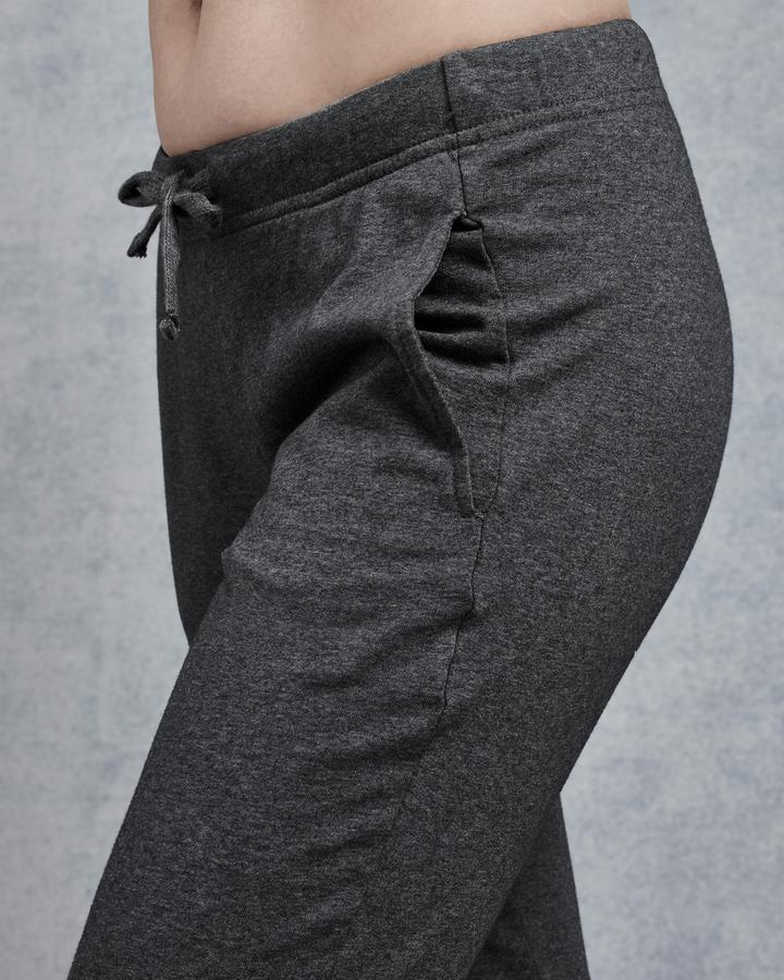 Tee Lab Clothing Slim Jogger in Dark Grey Melange