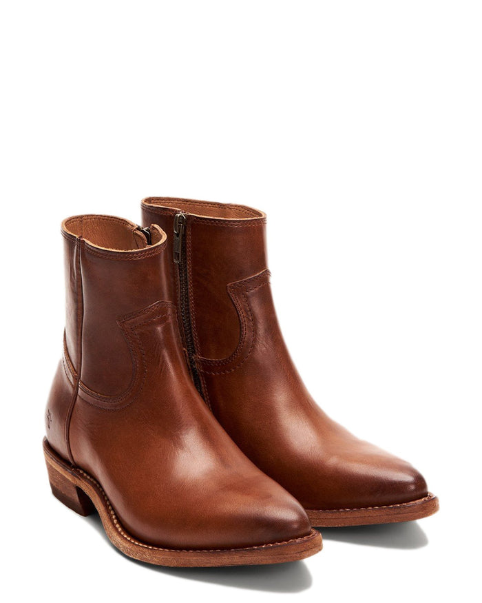 The Frye Company Shoes Caramel / 6 Billy Inside Zip Bootie