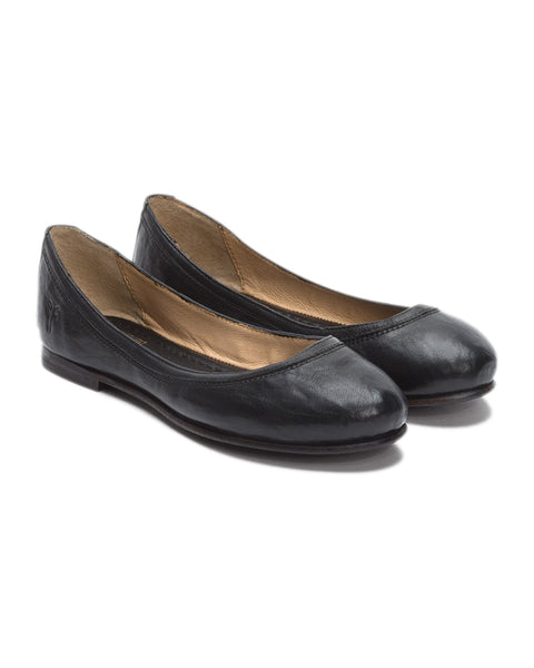 The Frye Company Shoes Black / 6 Carson Ballet in Black