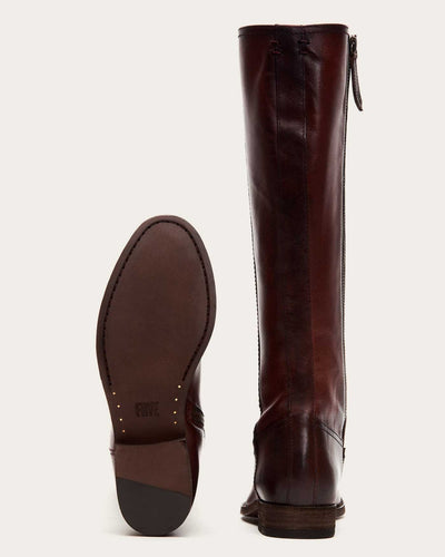 The Frye Company Shoes Melissa Inside Zip Tall in Mahogany