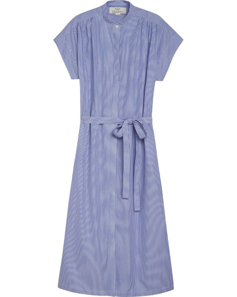 Trovata Clothing Astrid Easy Dress in Blue & White Stripe