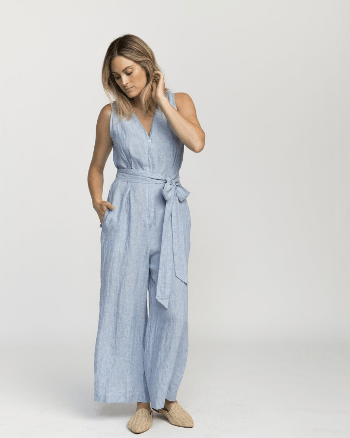 Trovata Clothing Rebecca Jumpsuit in Sky