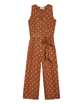 Trovata Clothing Tobacco Dot / XS Rebecca Jumpsuit in Tobacco Dot