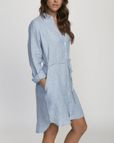 Trovata Clothing Rowene Short Dress in Sky