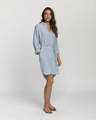 Trovata Clothing Sky / XS Rowene Short Dress in Sky
