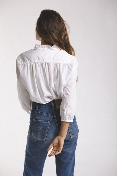 Trovata Clothing Sara Henley Blouse in White