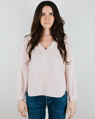 Velvet by Graham & Spencer Clothing Antonia Blouse in Peony