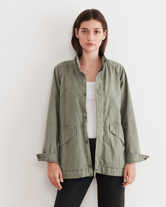 Velvet by Graham & Spencer Clothing Army / S Becky Button Jacket in Army