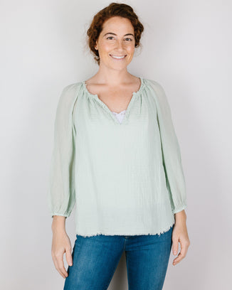 Velvet by Graham & Spencer Clothing Cathy Raglan Top in Kiwi