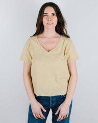 Velvet by Graham & Spencer Clothing Elva V Neck Top in Pineapple