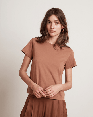 Velvet by Graham & Spencer Clothing Camel / XS Frankie Tee in Camel
