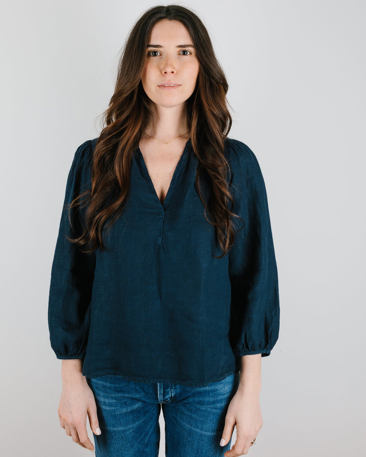 Velvet by Graham & Spencer Clothing Ileana 3/4 Sleeve Top in Night