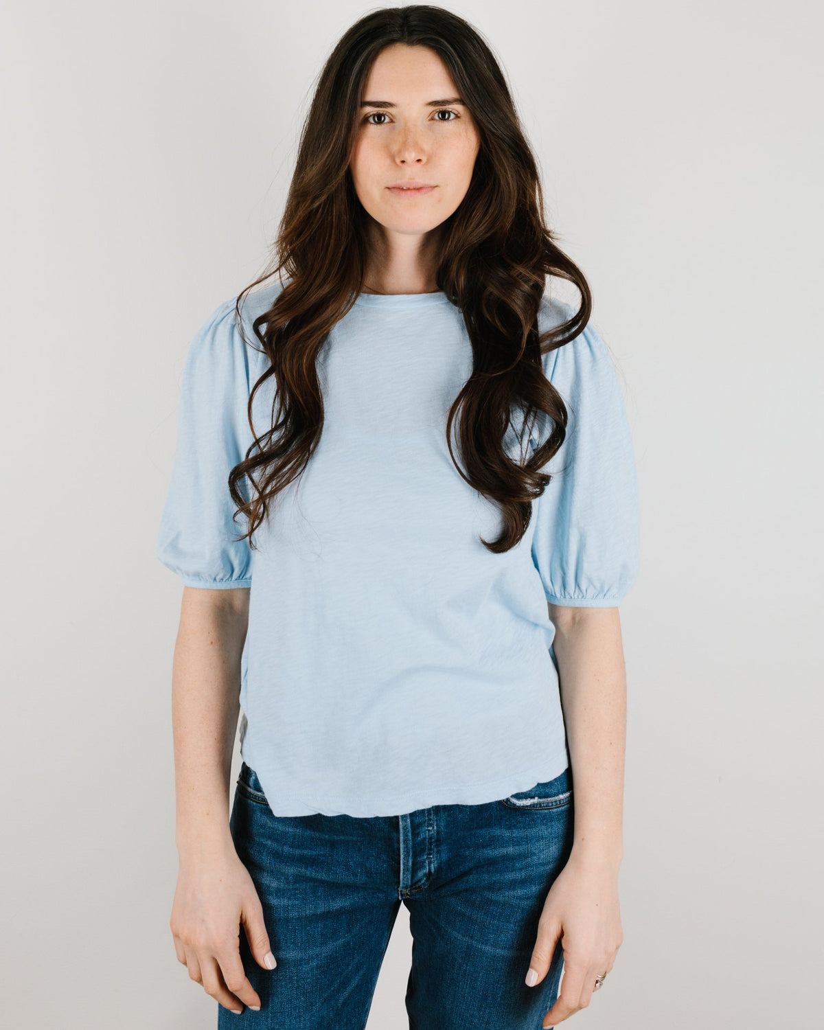 Velvet by Graham & Spencer Clothing Joella Puff Sleeve Top in Ice