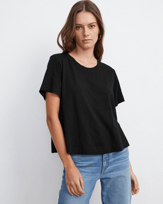 Velvet by Graham & Spencer Clothing Black / XS Lula Swing Tee in Black