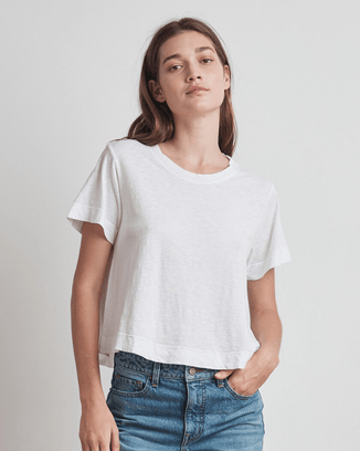 Velvet by Graham & Spencer Clothing Lula Swing Tee in White