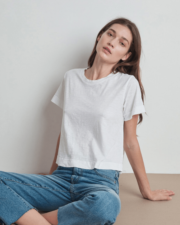 Velvet by Graham & Spencer Clothing White / XS Lula Swing Tee in White
