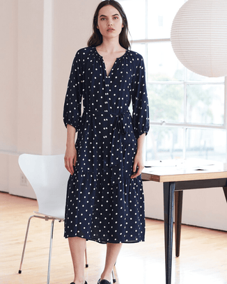 Velvet by Graham & Spencer Clothing Polka Dot / XS Maddy Raglan Dress in Polka Dot