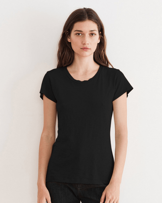 Velvet by Graham & Spencer Clothing Black / XS Odelia Scoop Neck Tee in Black