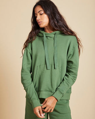 Velvet by Graham & Spencer Clothing Ojai Hoodie in Clover