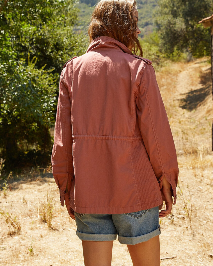 Velvet by Graham & Spencer Clothing Ruby Army Jacket In Rose