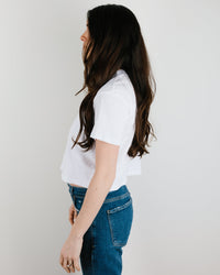 Velvet by Graham & Spencer Clothing Sabel Crop Top in White