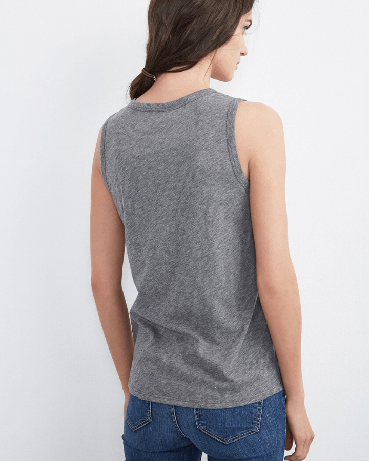 Velvet by Graham & Spencer Clothing Taurus Tank in Medium Heather Grey