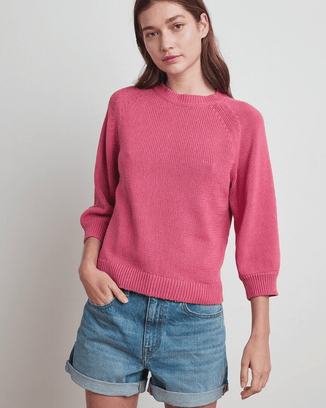 Velvet by Graham & Spencer Clothing Rose / XS Yara Cotton Sweater in Rose