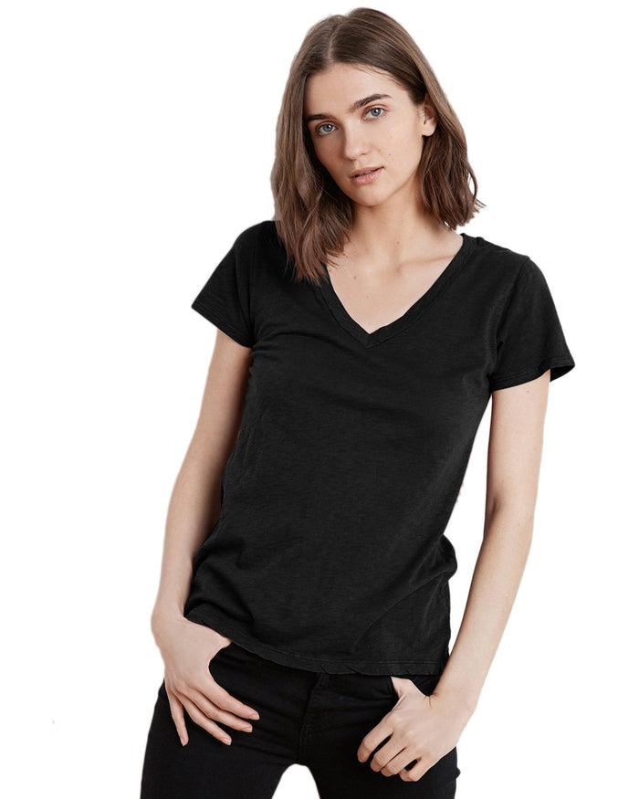 Velvet Clothing Black / XS Lilith V Tee