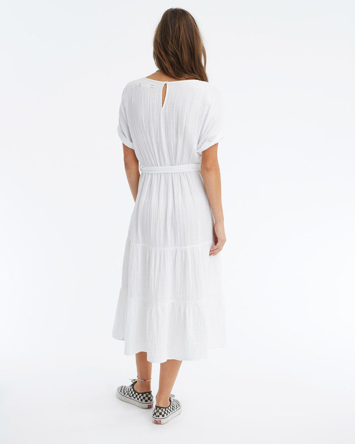 XiRENA Clothing White / XS Aeryn Dress in White