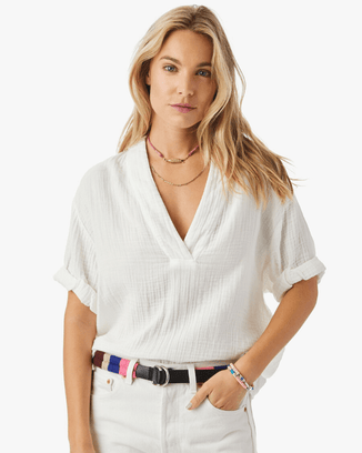 XiRENA Clothing White / XS Avery Top in White