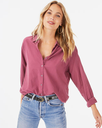Xirena Clothing Fig / XS Beau Shirt in Fig