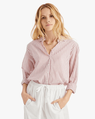 XiRENA Clothing Mesa Rose / XS Beau Shirt in Mesa Rose