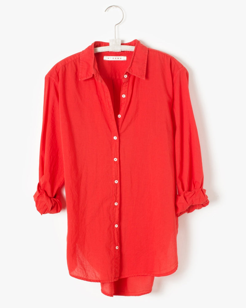 XiRENA Clothing Beau Shirt in Sunset Red
