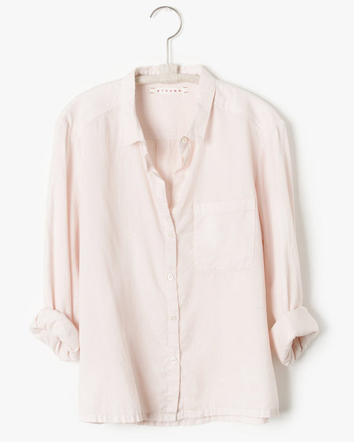 Xirena Clothing Blaine Shirt in Ballet Pink