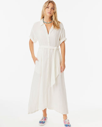 XiRENA Clothing White Wash / XS Caylin Dress in White Wash