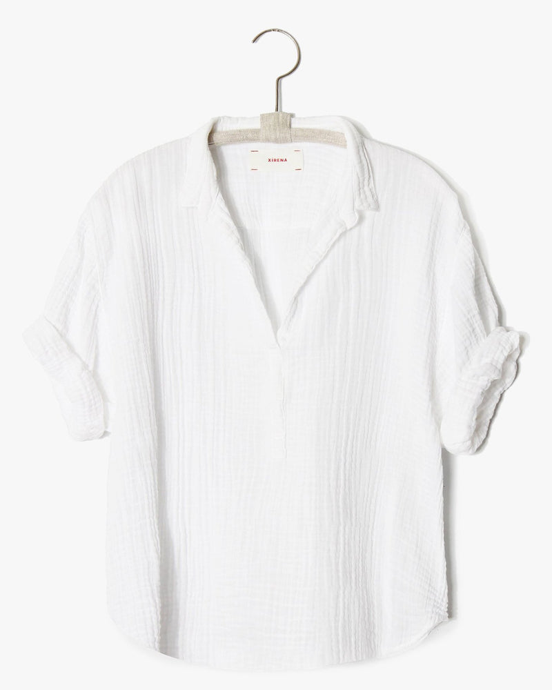 XiRENA Clothing Cruz Shirt in White