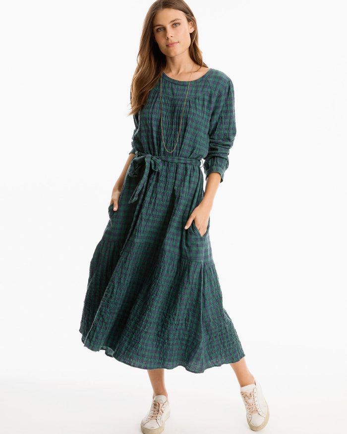 XiRENA Clothing Navy Pine / XS Emma Dress in Navy Pine