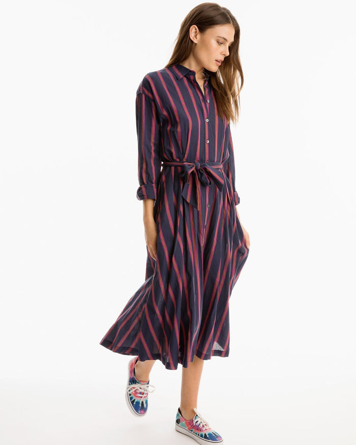 XiRENA Clothing Navy Benton Stripe / XS Everr Dress in Navy Benton Stripe