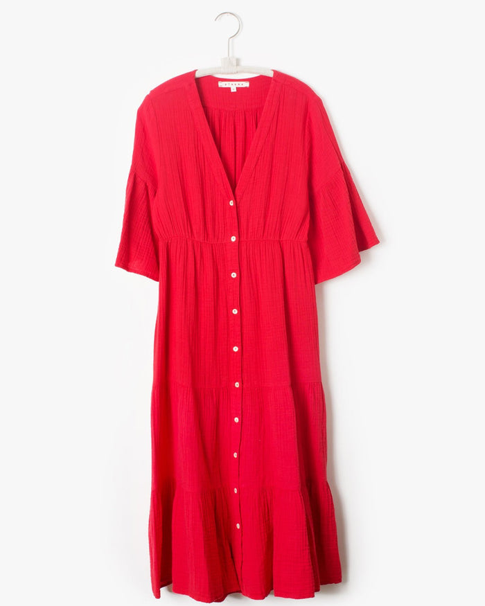 XiRENA Clothing Sun Red / XS Kendall Dress in Sun Red