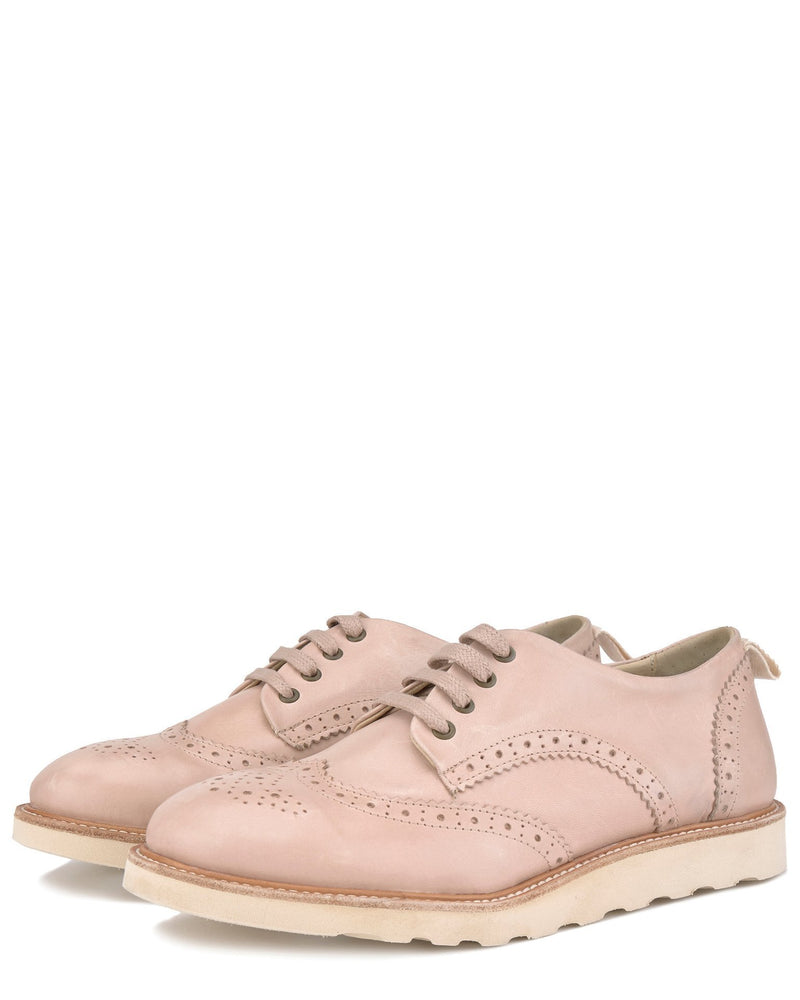 Young Soles Shoes Brogue Shoe in Nude Pink