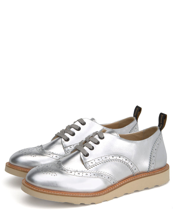 Young Soles Shoes Brogue Shoe in Silver