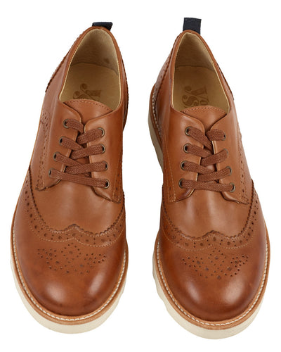 Young Soles Shoes Tan / 36 Brogue Shoe