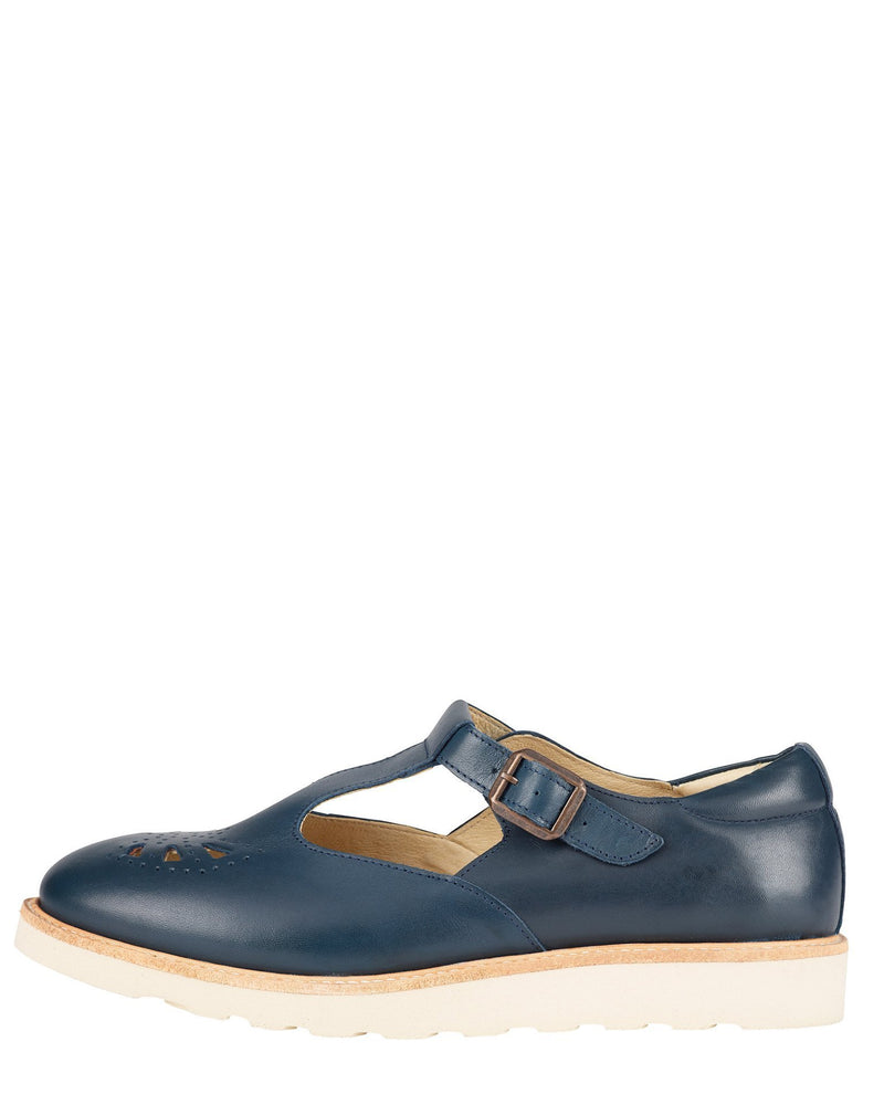 Young Soles Shoes Rosie T-Bar in Navy