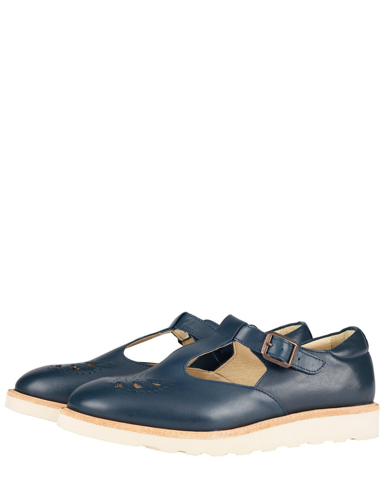 Young Soles Shoes Navy / EU 36 Rosie T-Bar in Navy