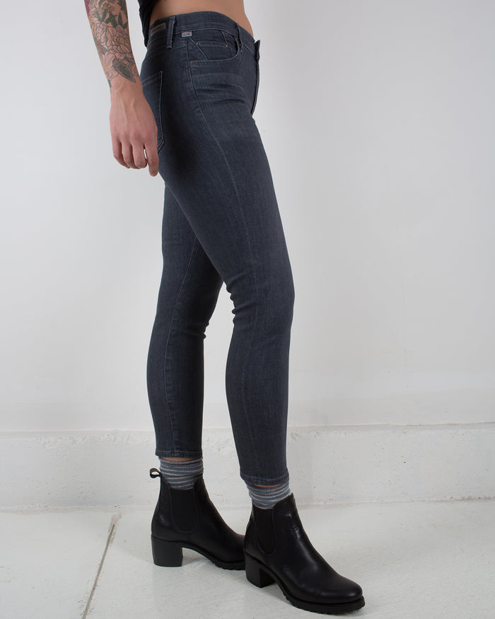 Rocket Crop High Rise Skinny in Moondance