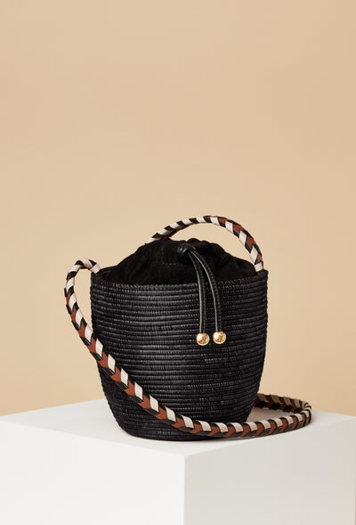 Crossbody Lunchpail / Black Multi Strap