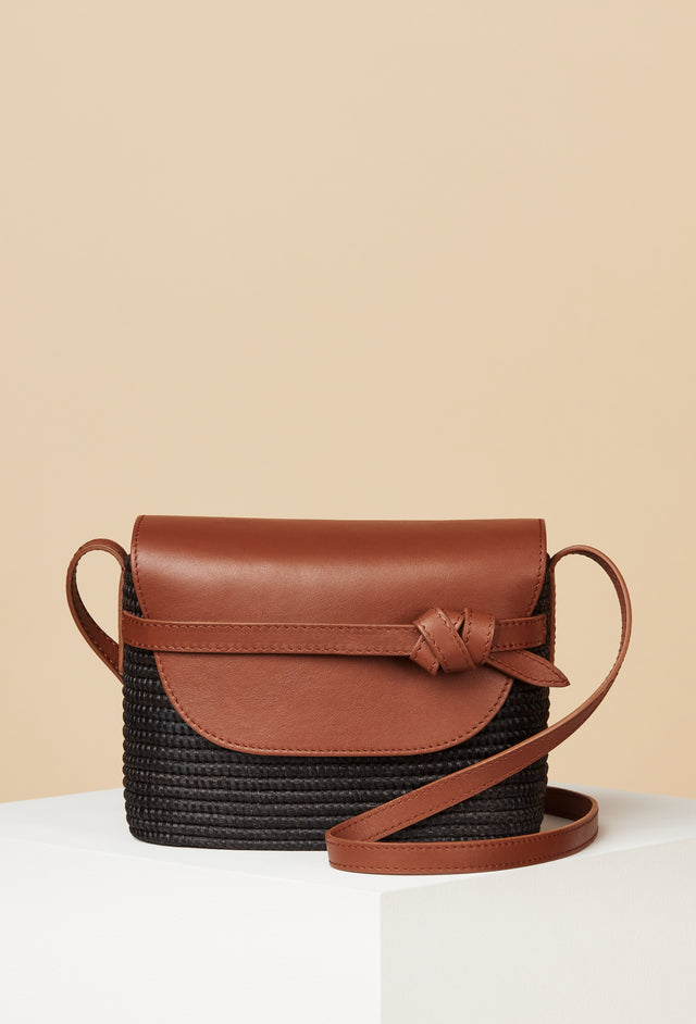 LAST ONE - Black / Camel Crossbody