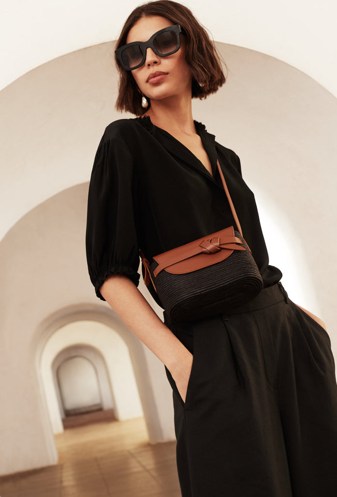 Black / Camel Crossbody